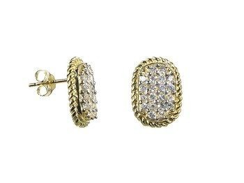 Vermeil CZ Earrings