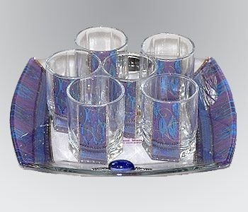 Glass Kiddush Set