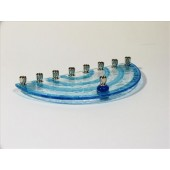 Fused Glass Menorah