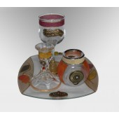 Glass Havdallah Set