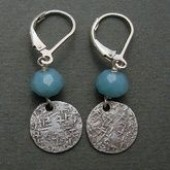 Small textured disc and turquoise