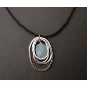 Drop pendant necklace with amazonite stone