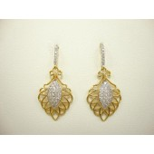 Pave and Gold Vermeil Earrings