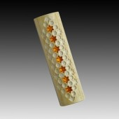 "Mezuzah ""Golden Stars of David"""