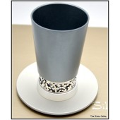 Anodized Aluminum Kiddush Cup & Tray