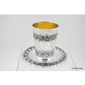 Sterling Silver Kiddush Cup & Tray