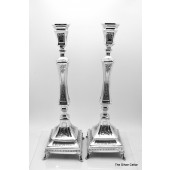 Sterling Silver Chased Candlesticks