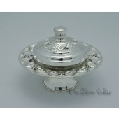 Diamond Cut Honey Dish - small