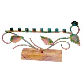 Patina Tree of Life Menorah